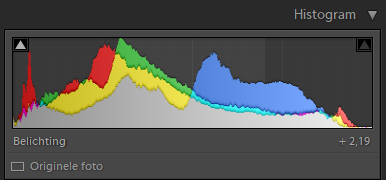 Histogram van lightroom